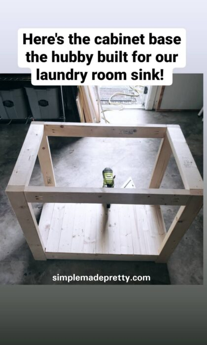 DIY farmhouse laundry room sink