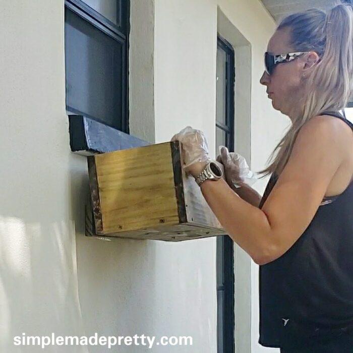 DIY window box how to hang