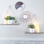 Dollar Tree Hanging Rope Shelf