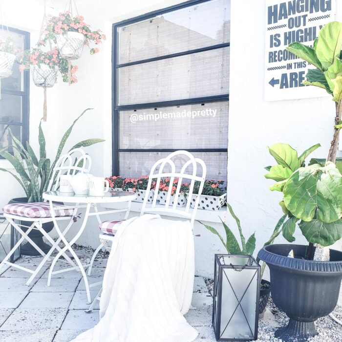 Outdoor bistro seating