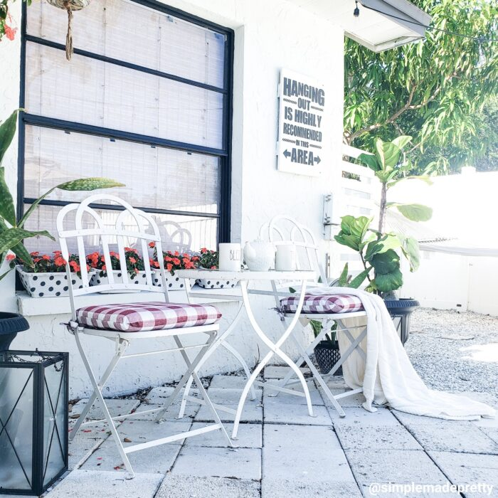 Outdoor seating area DIY