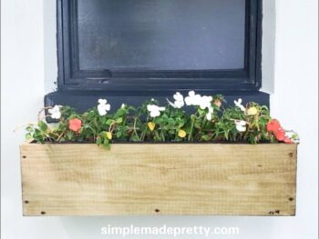 Window sill planter box diy