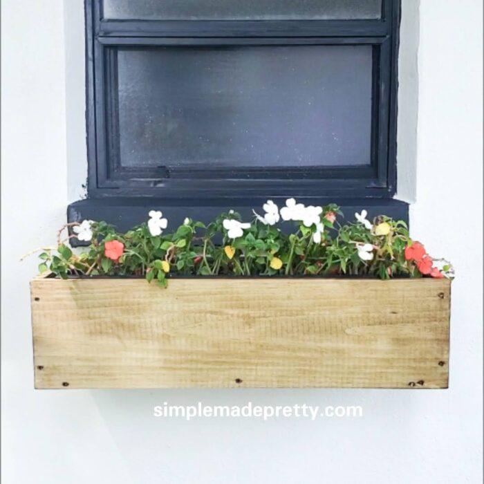 Window sill planter box diy