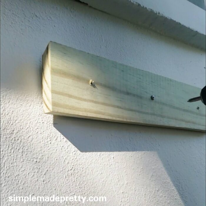 easy way to hang a windo box