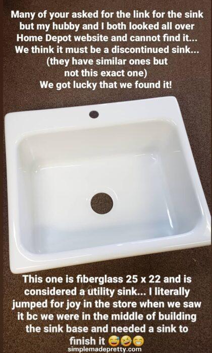 farmhouse sink utility