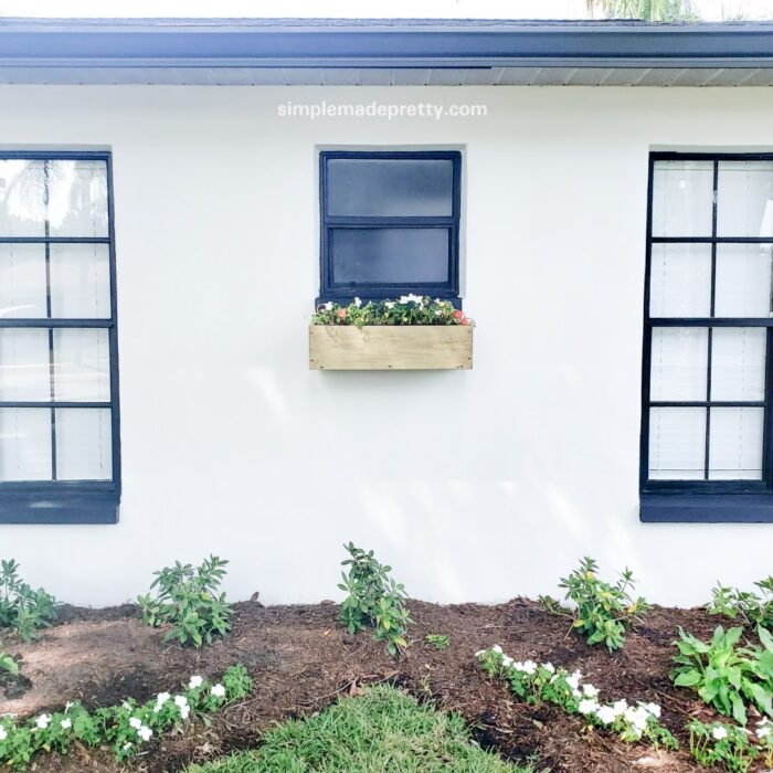 how to hang window boxes on brick