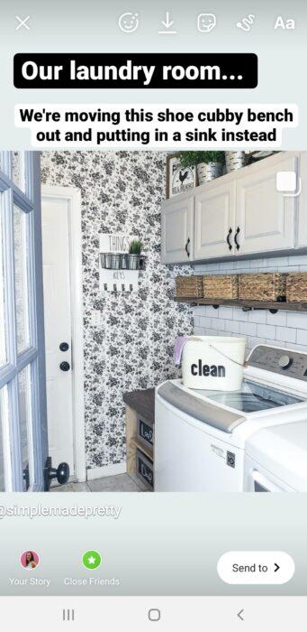 laundry room makeobver farmhouse