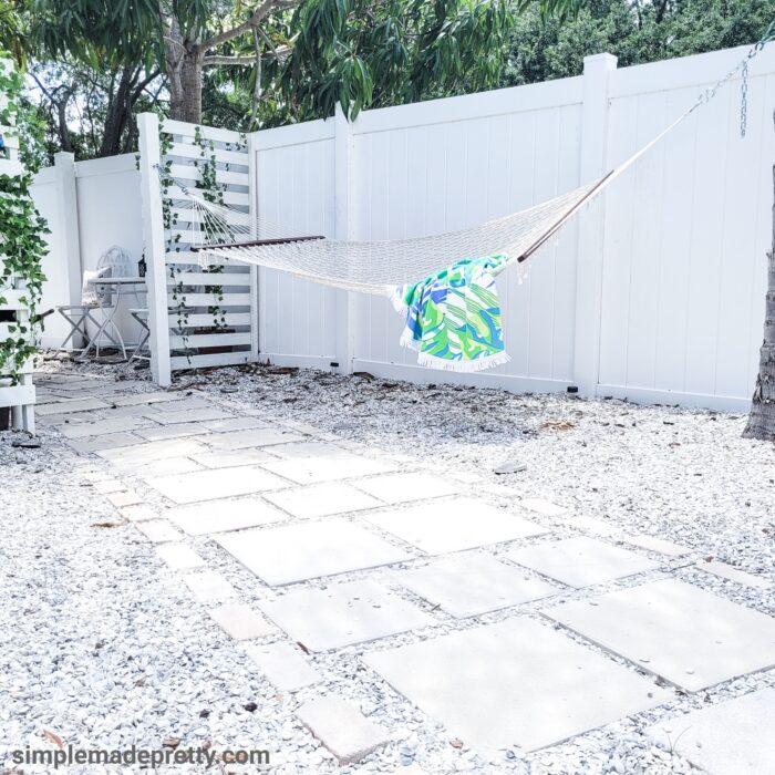 DIY Paver Walkway Hammock
