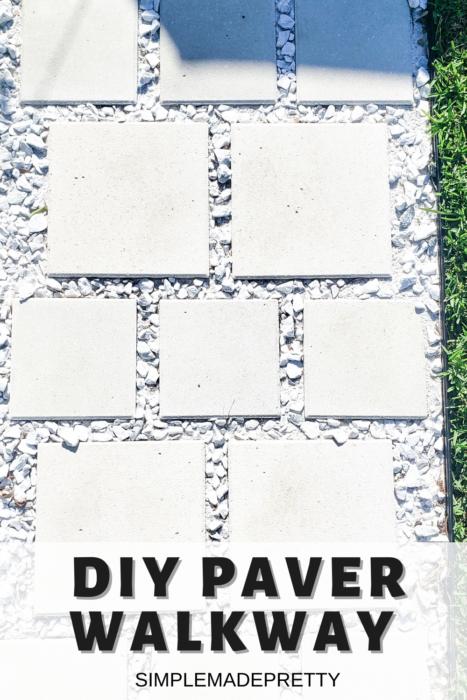 DIY Paver Walkway Pinterest