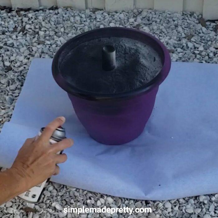 DIY outdoor umbrella base