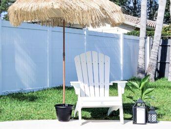 DIY umbrella base flower pot pvc pipe