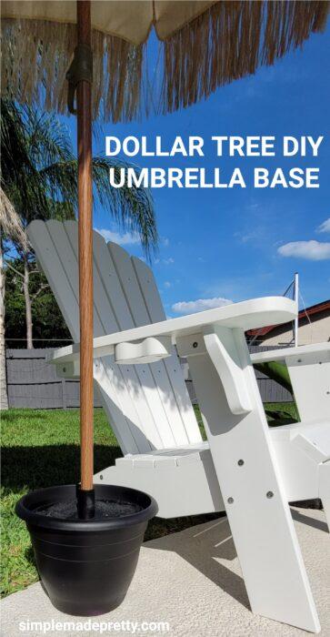 Dollar Tree DIY Umbrella stand base