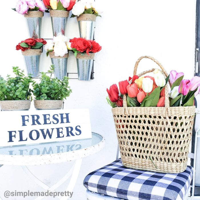 Dollar Tree Fresh Flowers Sign DIY