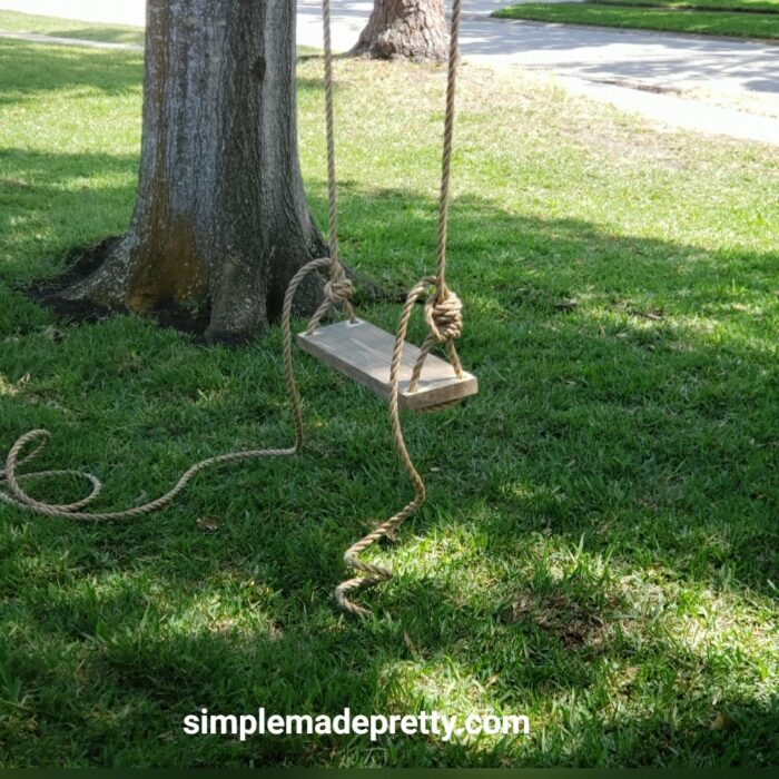 How to hang a tree swing easy