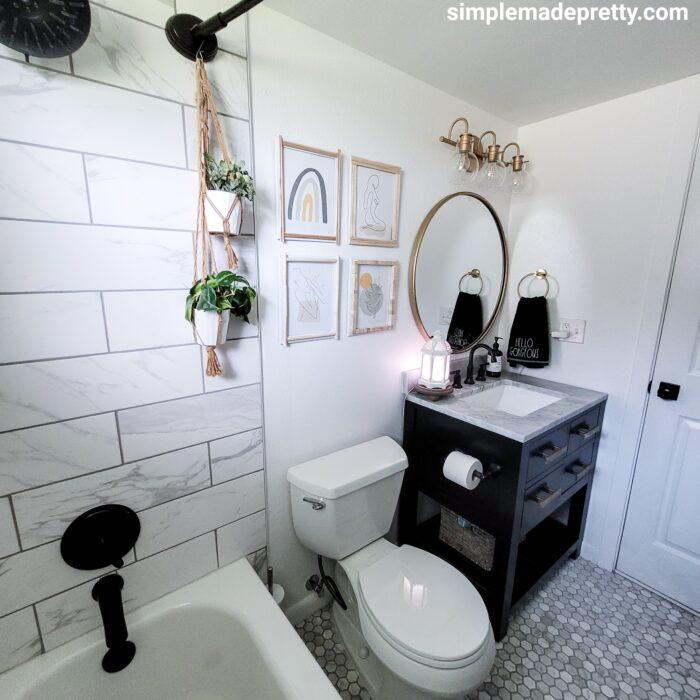black vanity bathroom update