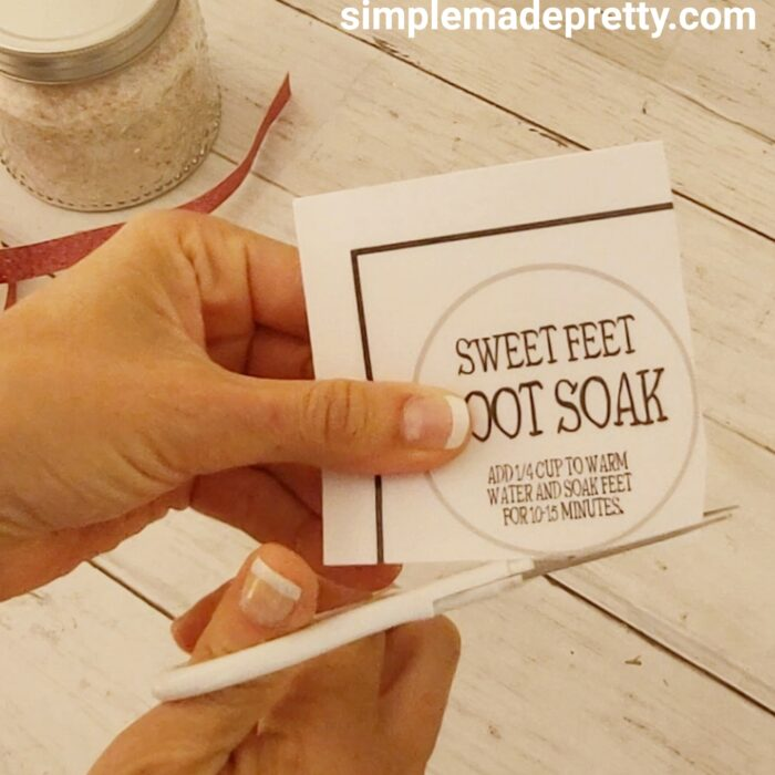 foot soak free printable