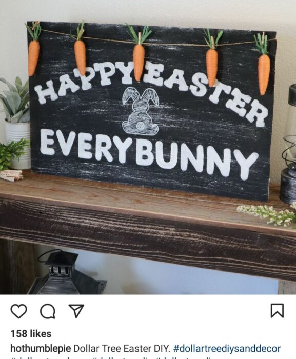 sign happy easter