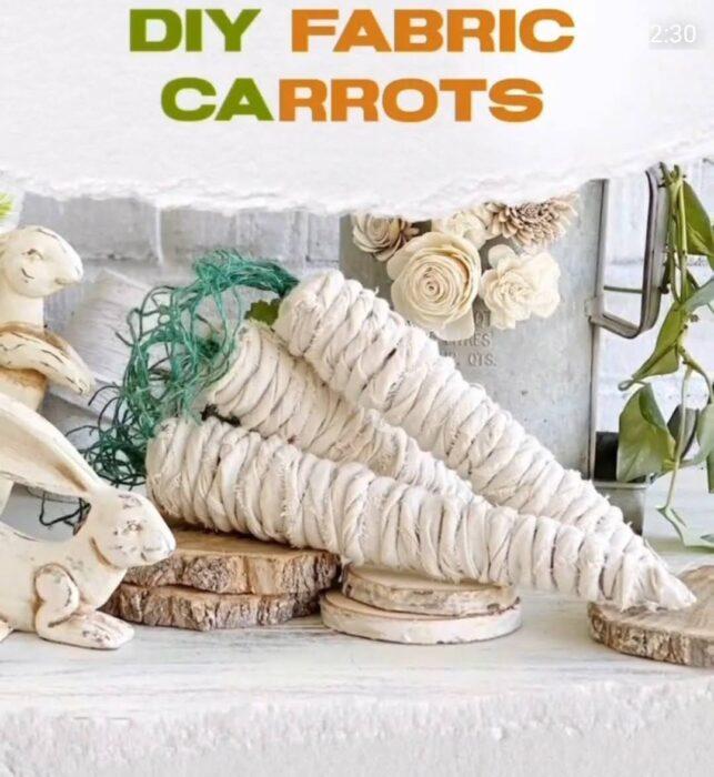table decor carrots diy