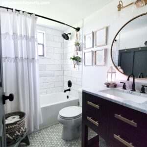 updated bathroom renovation on a budget