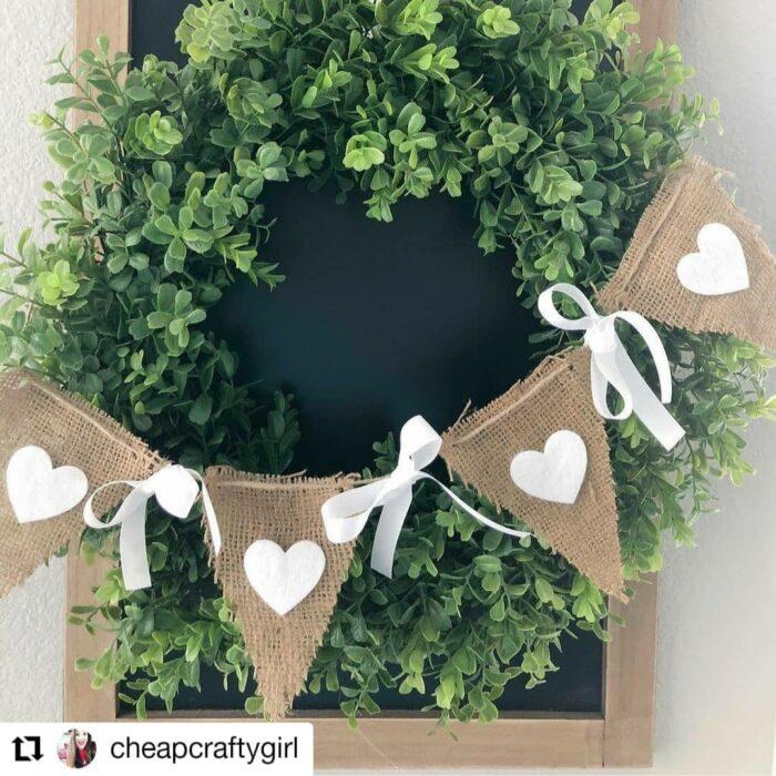 wreath banner diy