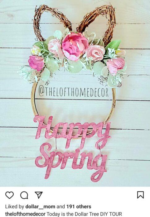 wreath happy spring