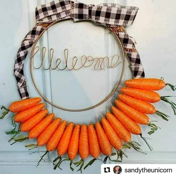 wreath spring easter carrots