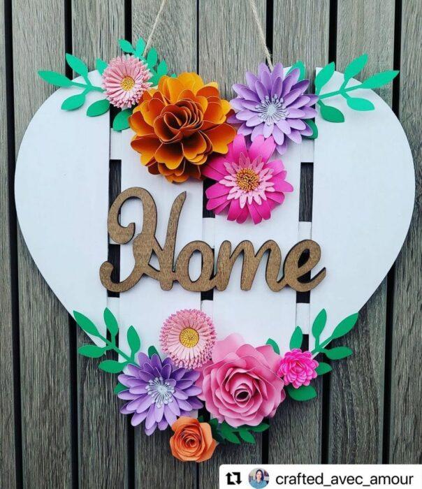 wreath spring heart