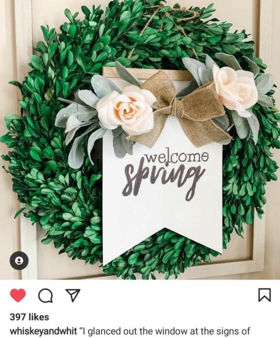 wreath spring thinking of a master plan sign dollar tree diy