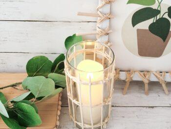 DOLLAR TREE DIY rattan vase