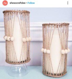 Dollar Tree boho glass vase