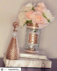 Dollar Tree gold vase