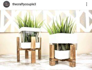 Dollar Tree plant stand vases
