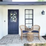 Porch Remodel with Old Mill Brick Herringbone