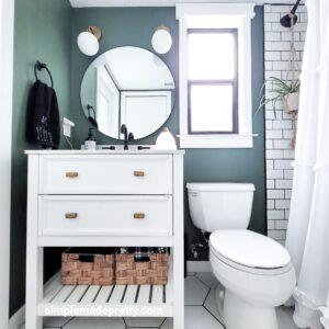 farmhouse bathroom remodel small