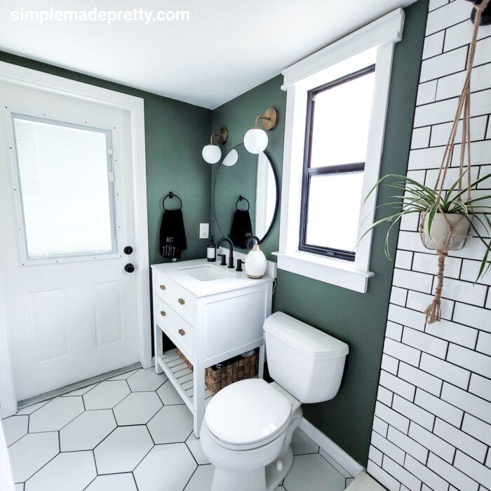 green bathroom walls ideas
