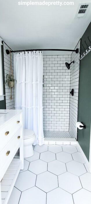 small master bathroom remodel with shower
