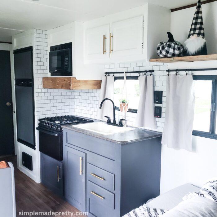 Camper Kitchen Fall