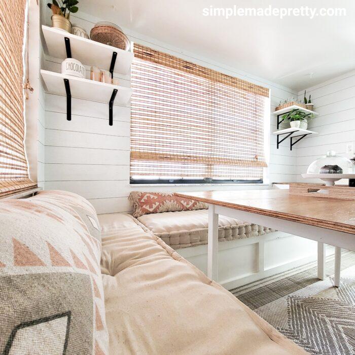 DIY kitchen banquette cushions