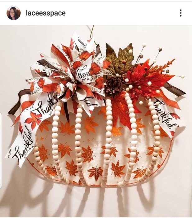 Dollar Tree pumpkin wreath form, Fall Decor, Pumpkin Wreath DIY
