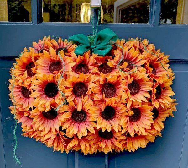 Sunflower Wreath Pumpkin Wreath Form