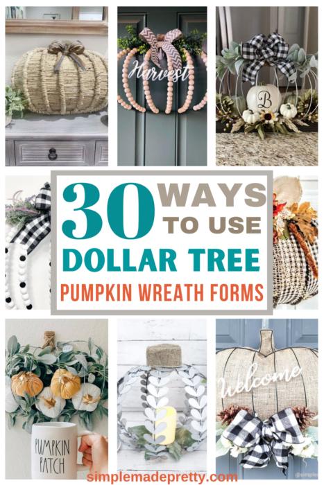Pumpkin Wreath Form Dollar Tree DIY ideas pin