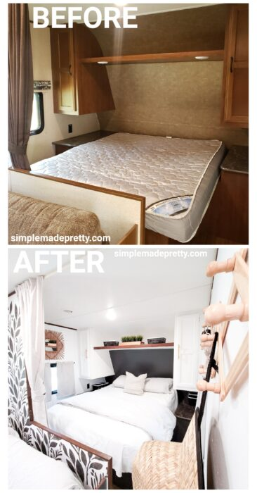 Remodel Travel Trailer Before and After
