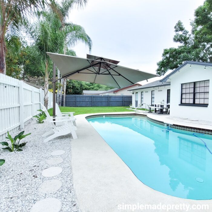 Simple Made Pretty backyard pool