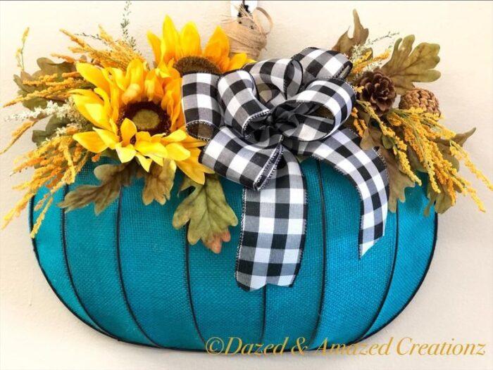 Dollar Tree Pumpkin Wreath Form