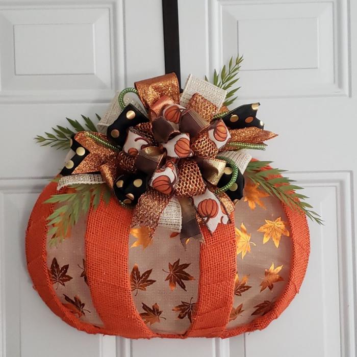 Dollar Tree Pumpkin Wire Form Ideas
