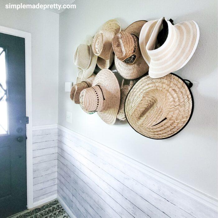 hat wall entryway