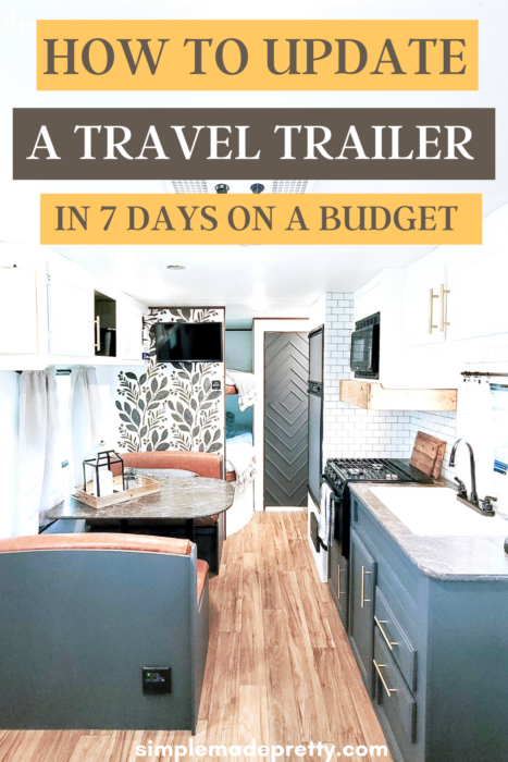 how to update a travel trailer on a budget pin