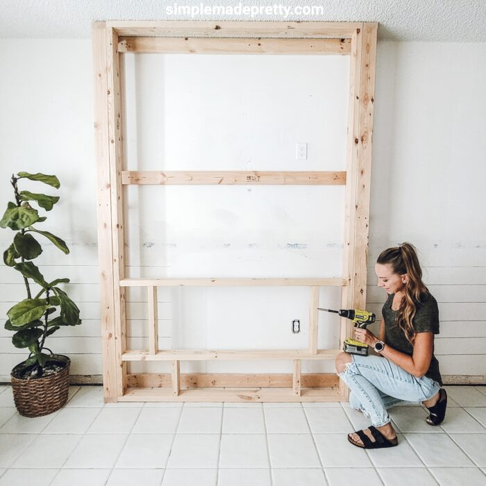 DIY Fireplace Wall Touchstone