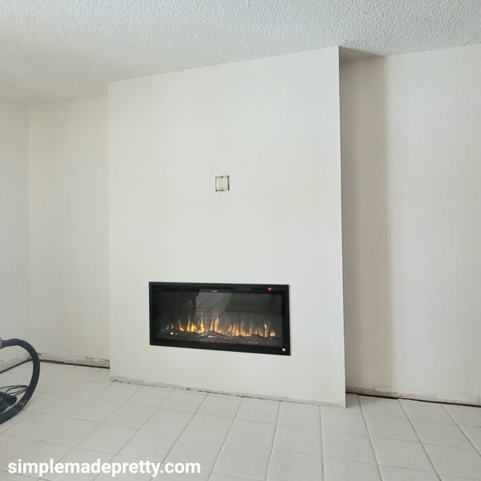 DIY fireplace wall with TV