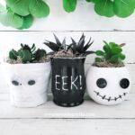 Dollar Tree DIY Halloween Flower Pots